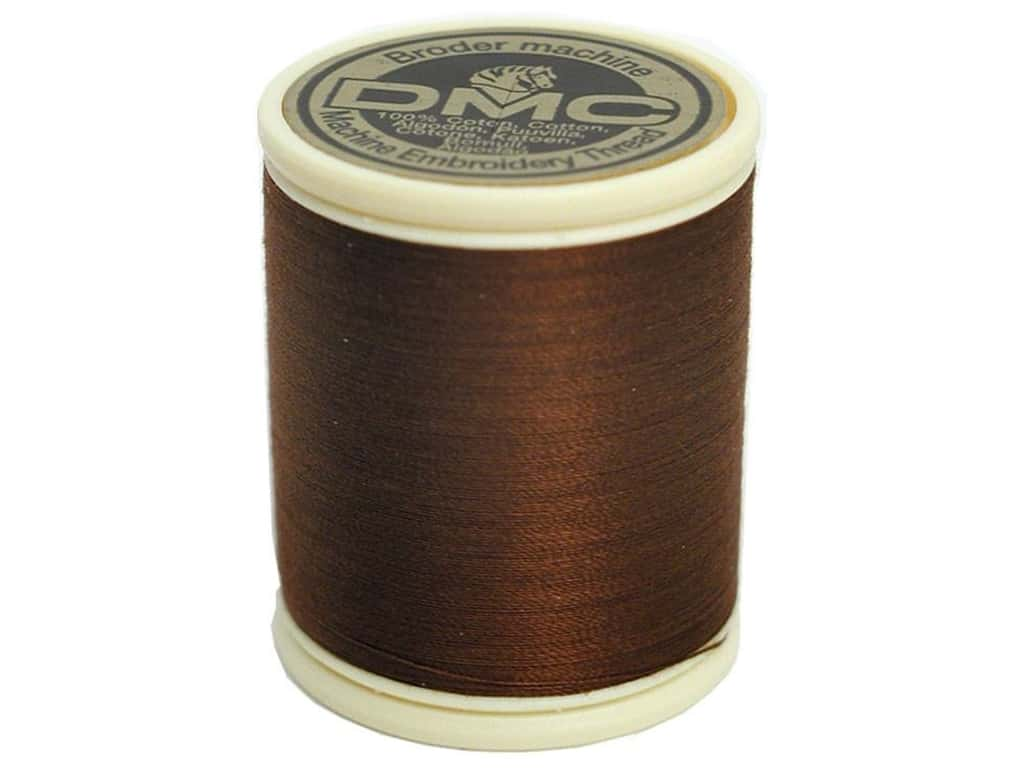 DMC Cotton Machine Embroidery Thread 50 wt. 547 yd. #801 Dark Coffee Brown