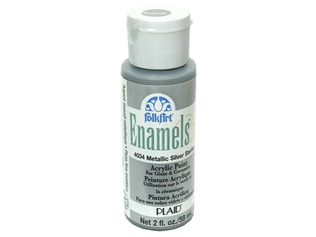 Plaid FolkArt Enamels Paint 2 oz. #4034 Metallic Silver