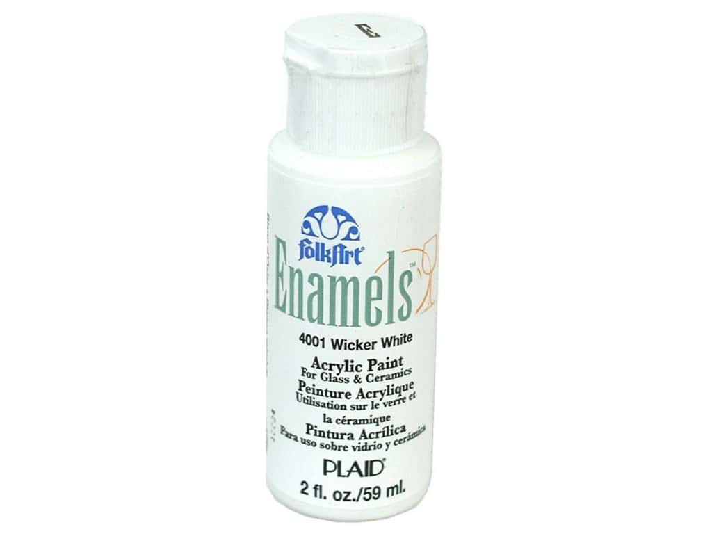 Plaid FolkArt Enamels Paint 2 oz. #4001 Wicker White