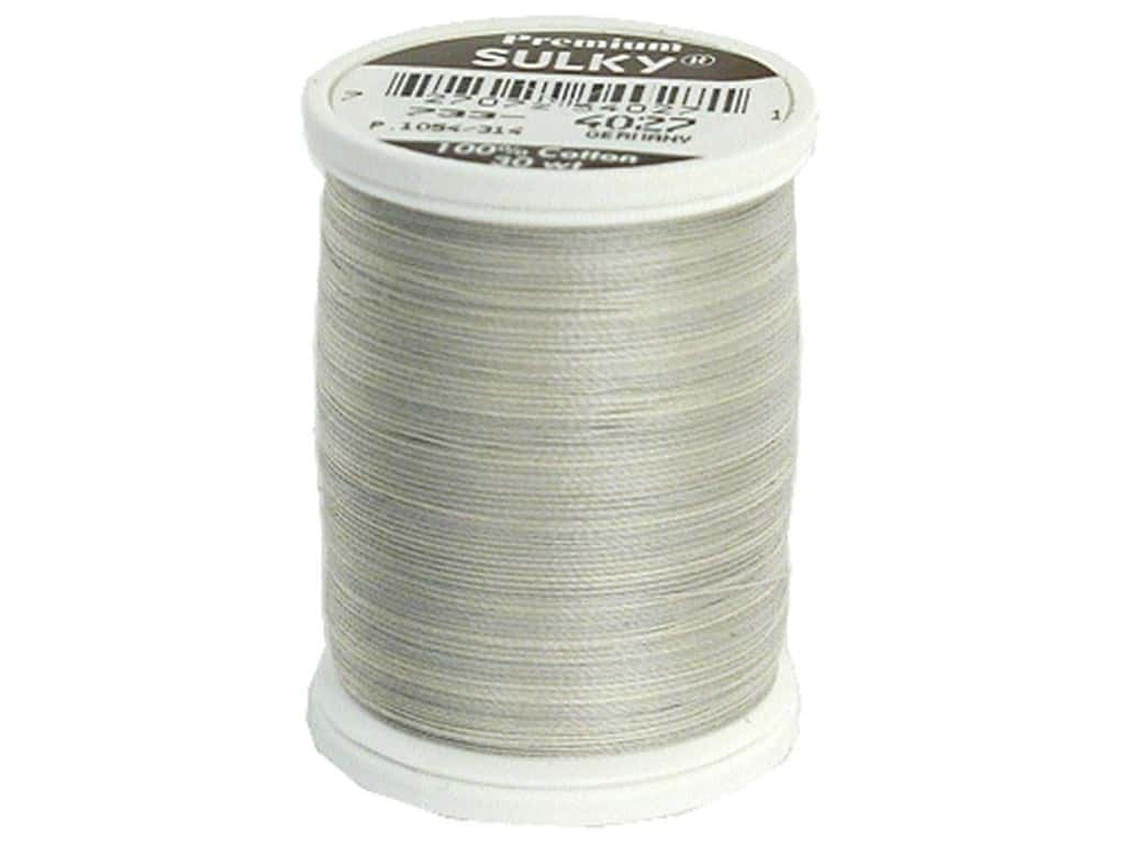 Sulky Blendables Cotton Thread 30 wt. 500 yd. #4027 Silver Slate