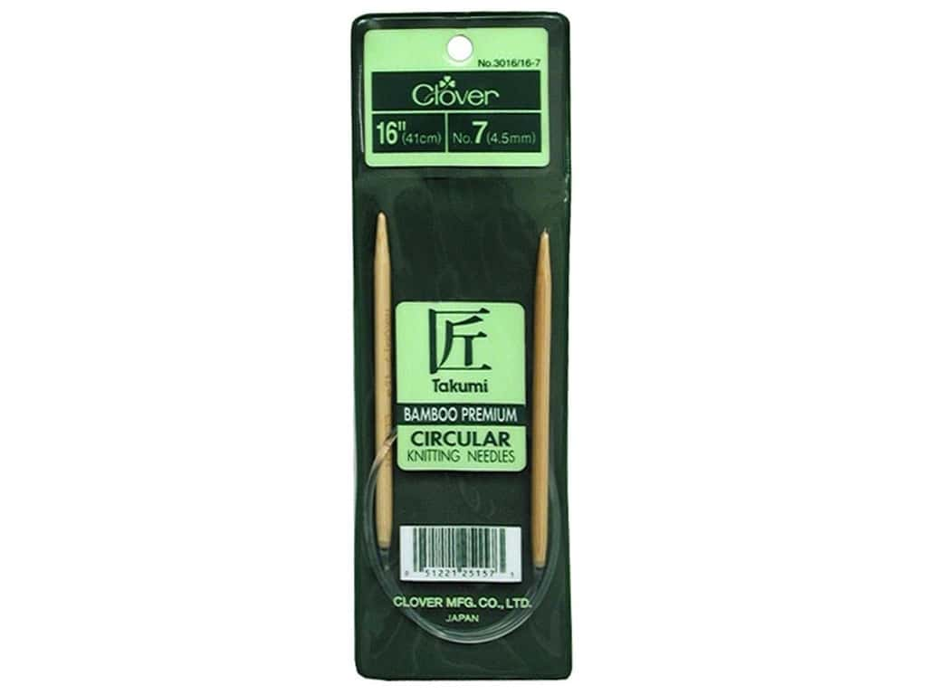 Clover Bamboo Circular Knitting Needles 16 in. Size 7 (4.5 mm)