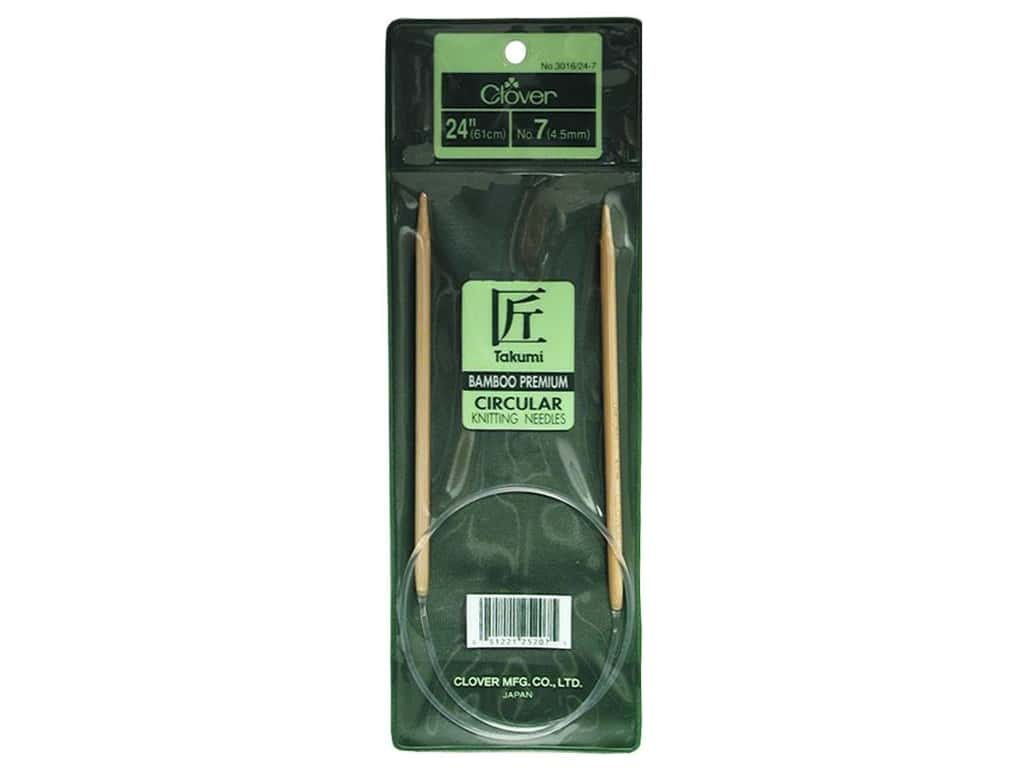 Clover Bamboo Circular Knitting Needles 24 in. Size 7 (4.5 mm)