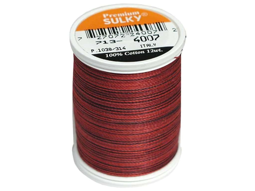 Sulky Blendables Cotton Thread 12 wt. 330 yd. #4007 Red Brick