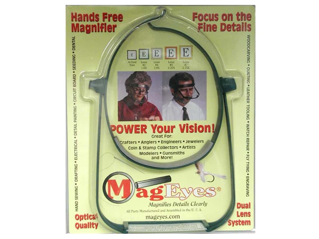 MagEyes Hands Free Magnifier with #2 & #4 Lenses