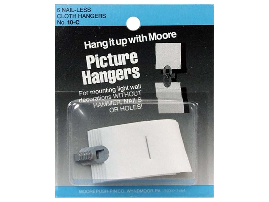 Moore Picture Hangers Interlocking Cloth 6pc
