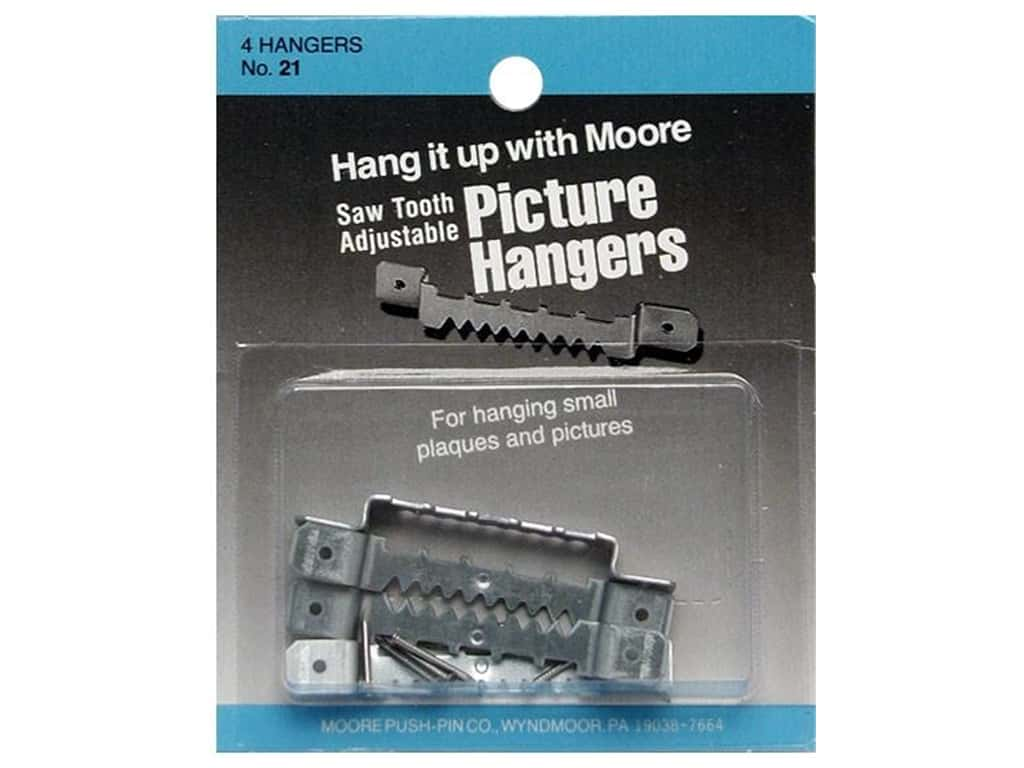 Moore Picture Hangers Saw Tooth with Nails Large 4pc