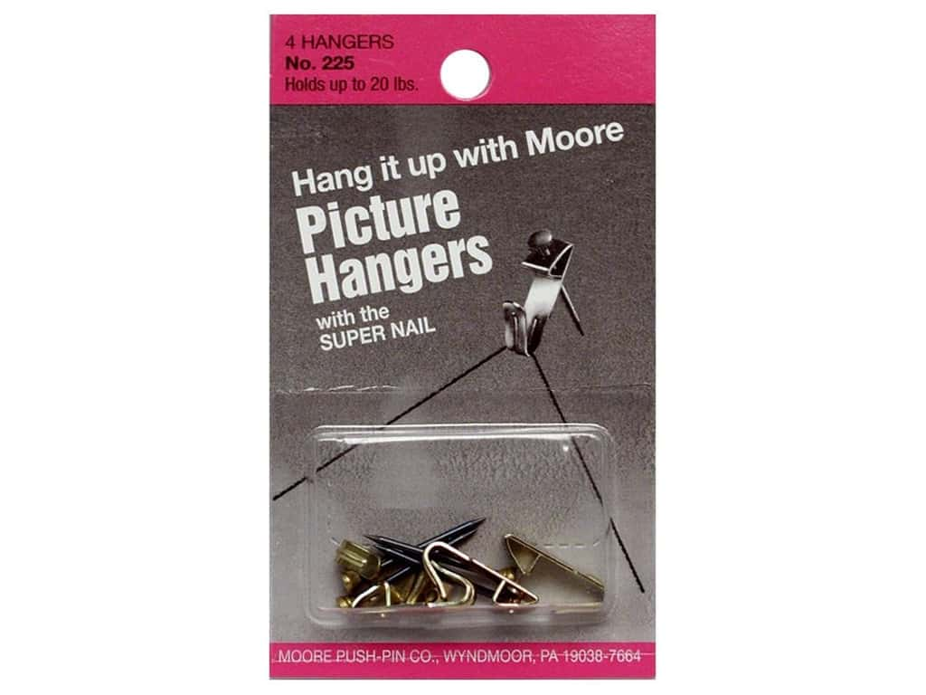 Moore Picture Hangers with Super Nail 20lb 4pc