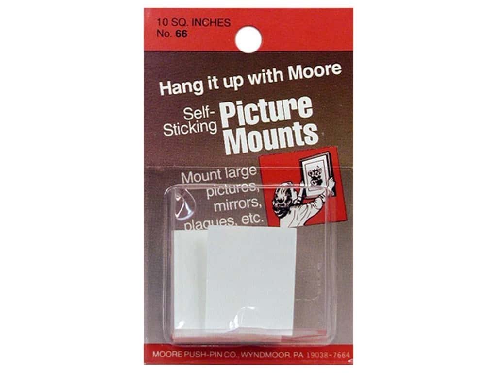 Moore Picture Mounts Self Stick Tabs 8 - 1 1/4 x 1 in.