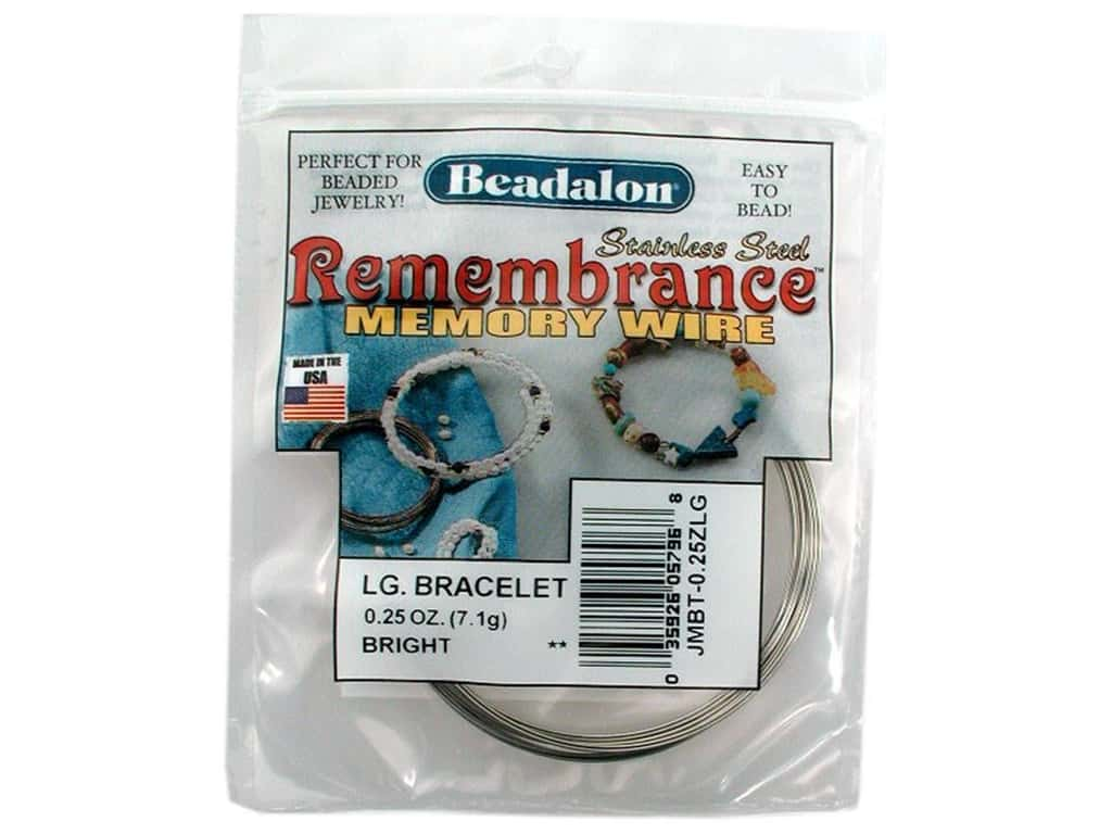 Beadalon Remembrance Memory Wire Large Bracelet .25 oz. Bright