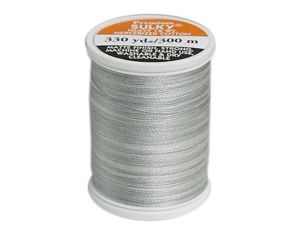 Sulky Blendables Cotton Thread 12 wt. 330 yd. #4027 Silver Slate