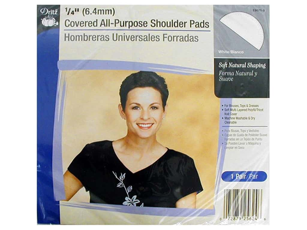Covered All Purpose Shoulder Pads by Dritz 1/4 in. White