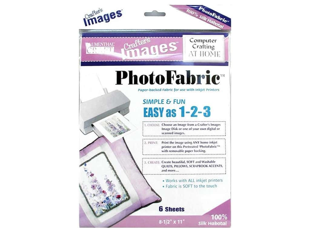 Blumenthal Crafter's Images PhotoFabric 8 1/2 x 11 in. Silk Habotai 5 pc.
