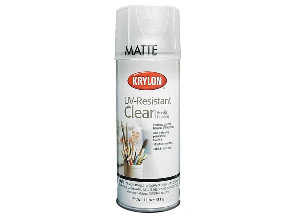 Krylon UV-Resistant Clear Coating 11 oz. Matte