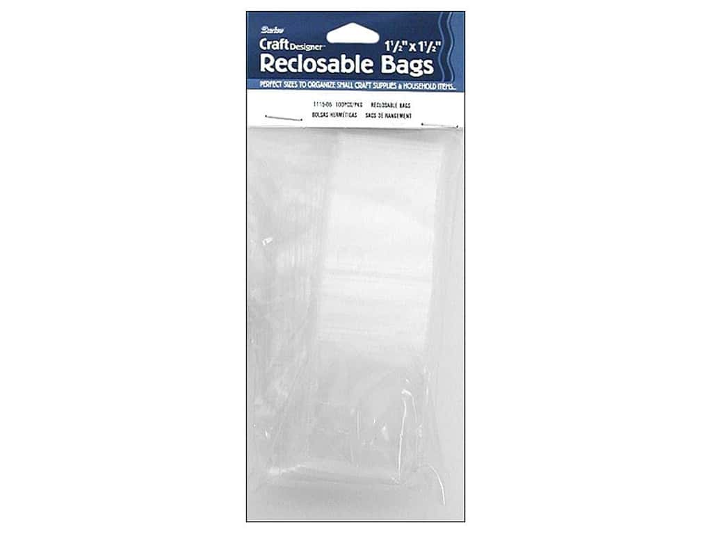 Darice Reclosable Storage Bags 1 1/2 x 1 1/2 in. 100 pc. Clear