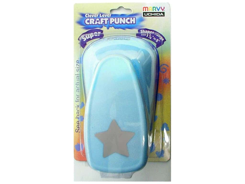 Uchida Clever Lever Super Jumbo Craft Punch 1 7/8 in. Star