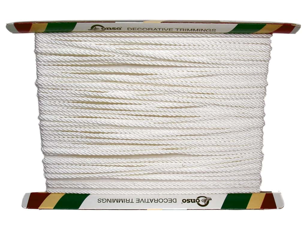 Conso Princess Twisted Cord 3/16 in. White (36 yards)