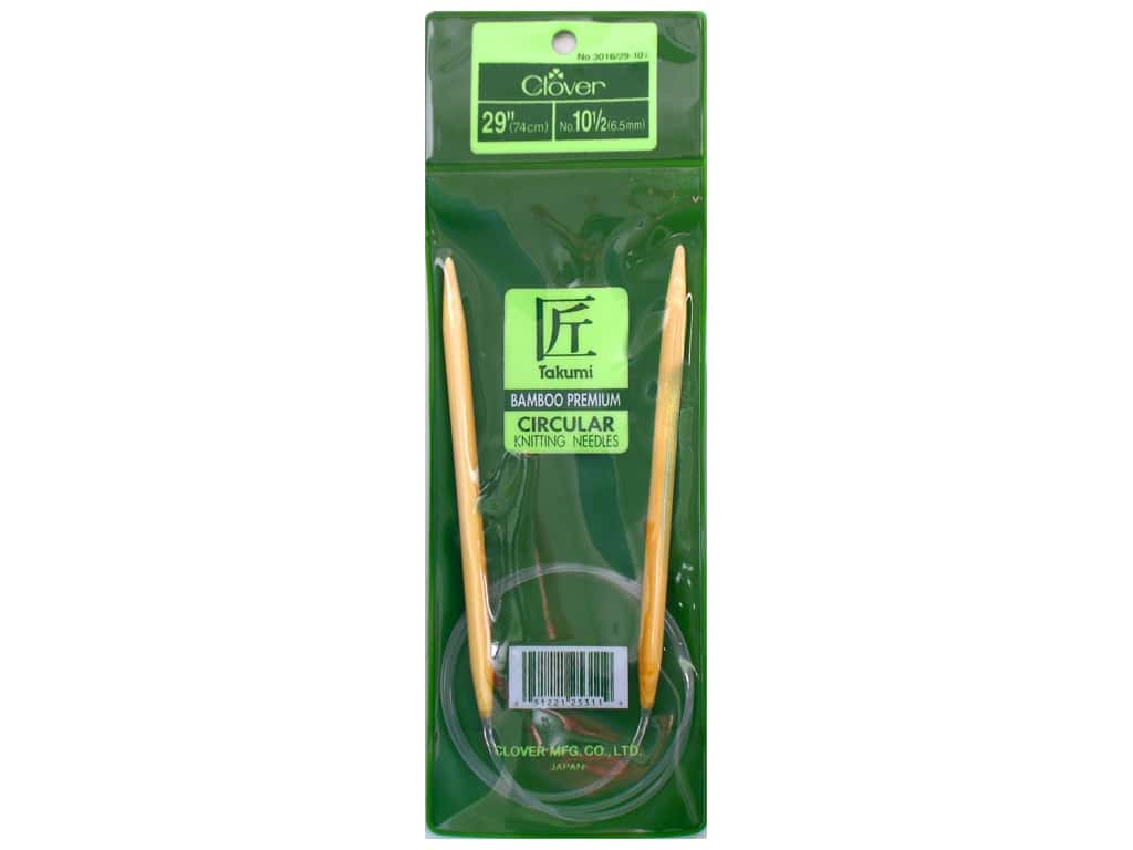 Clover Bamboo Circular Knitting Needle 29 in. Size 10.5 (6.5 mm)