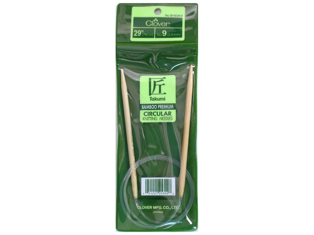 Clover Bamboo Circular Knitting Needles 29 in. Size 9 (5.5 mm)