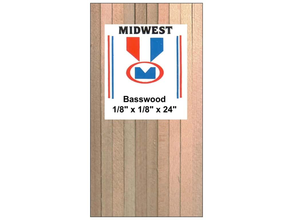 Midwest Basswood Strip 1/8 x 1/8 x 24 in. (48 pieces)