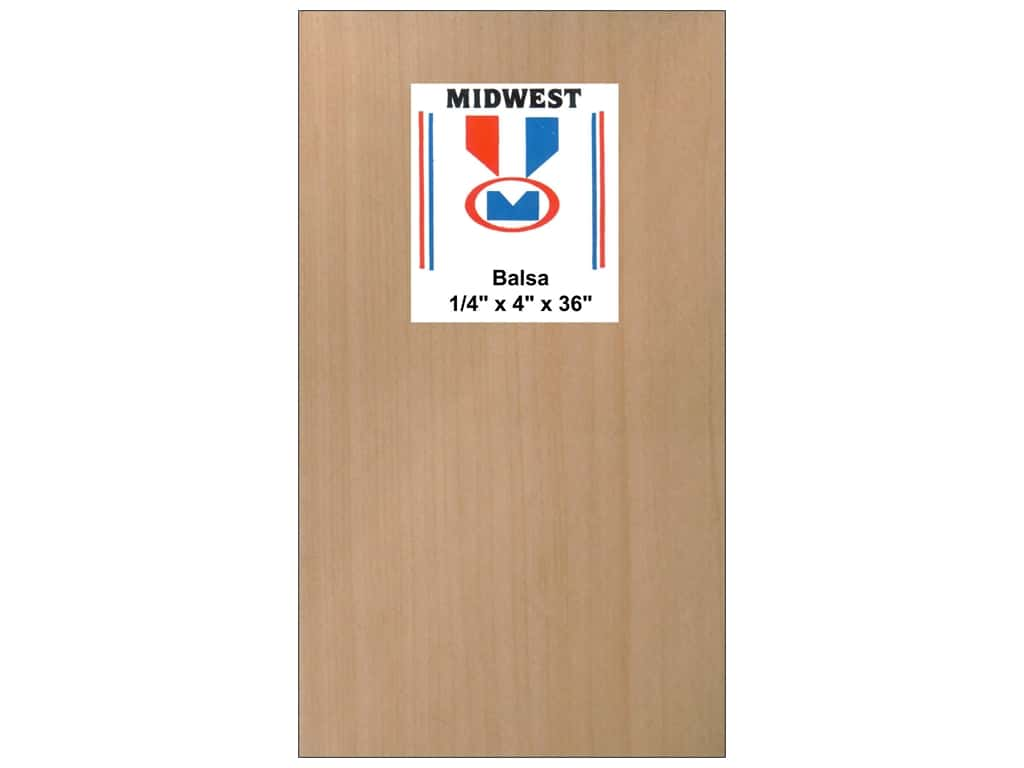 Midwest Balsa Wood Strips 1/4 x 4 x 36 in. (10 pieces)
