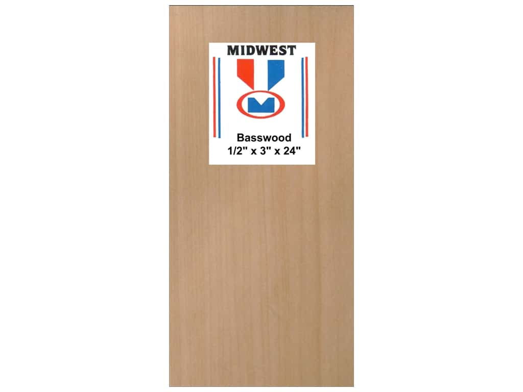 Midwest Basswood Sheet 1/2 x 3 x 24 in. (5 pieces)