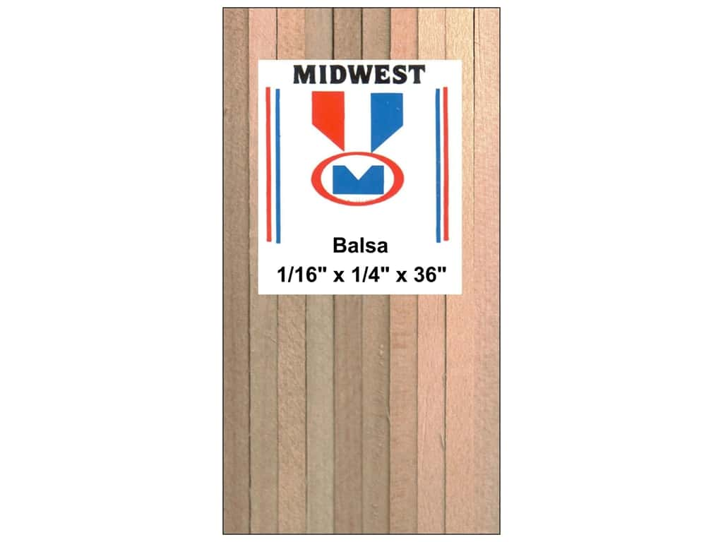 Midwest Balsa Wood Strips 1/16 x 1/4 x 36 in. (30 pieces)