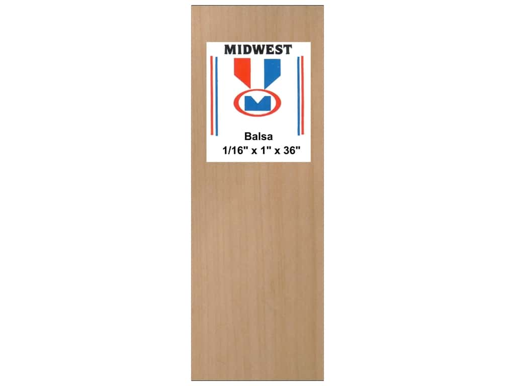 Midwest Balsa Wood Strips 1/16 x 1 x 36 in. (20 pieces)
