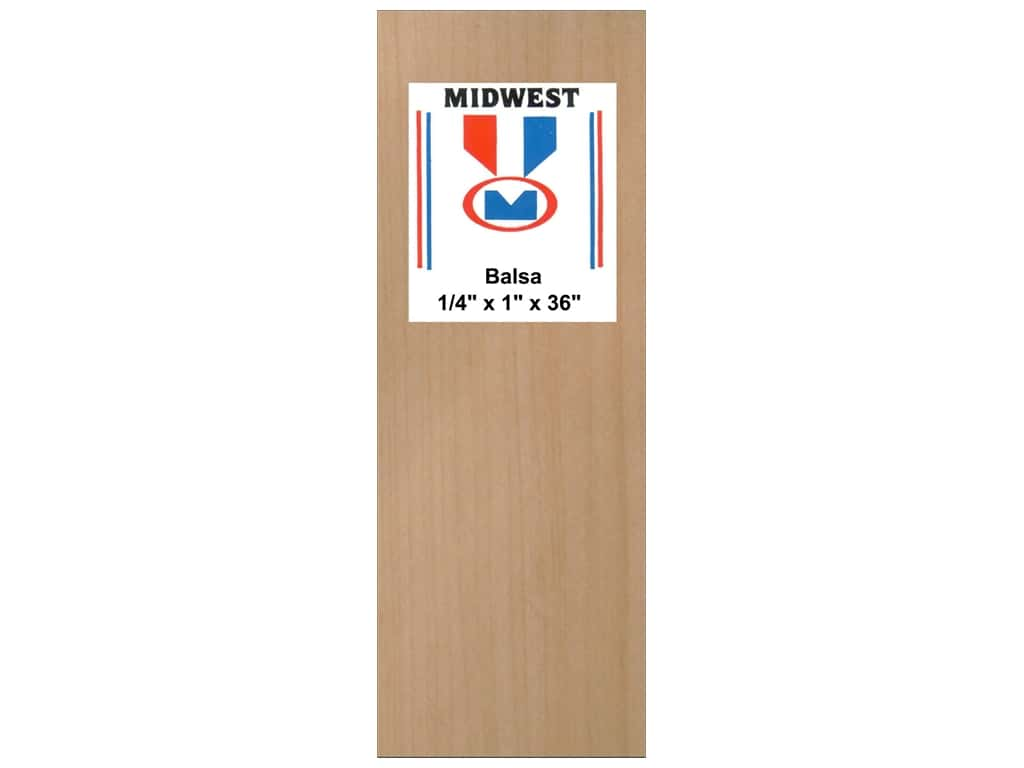 Midwest Balsa Wood Strips 1/4 x 1 x 36 in. (10 pieces)