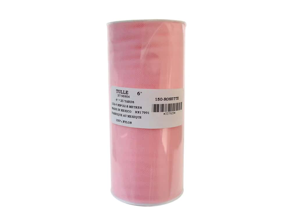 Offray Tulle 6 in. x  25 yd. Pink (25 yards)