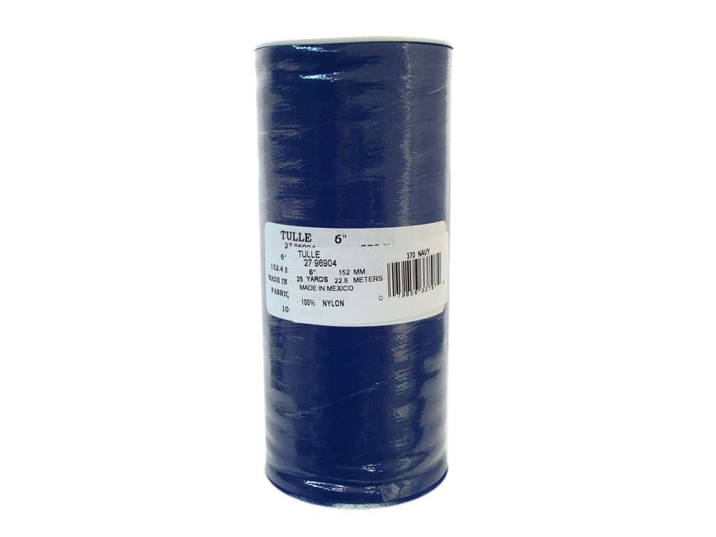 Offray Tulle 6 in. x  25 yd. Navy Blue (25 yards)