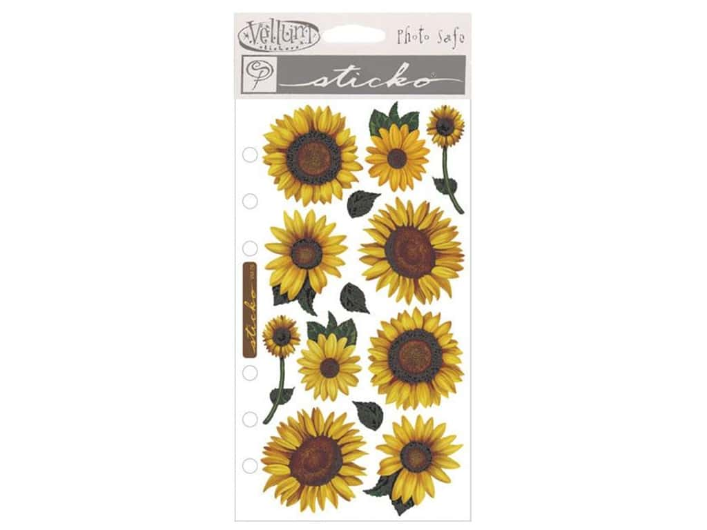 EK Sticko Stickers Vellum Sunflowers