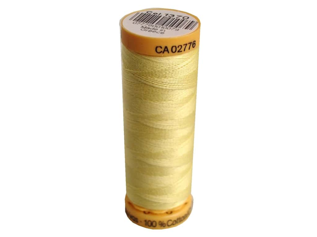 Gutermann 100% Natural Cotton Sewing Thread 109 yd. #1370 Pale Yellow