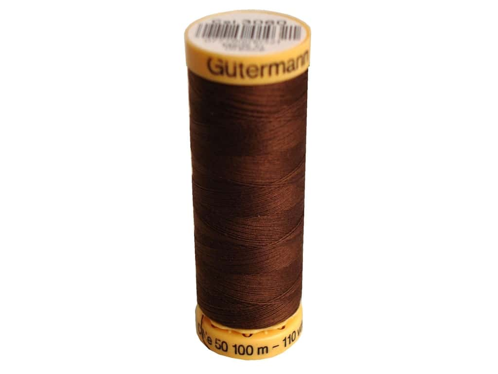 Gutermann 100% Natural Cotton Sewing Thread 109 yd. #3060 Brown