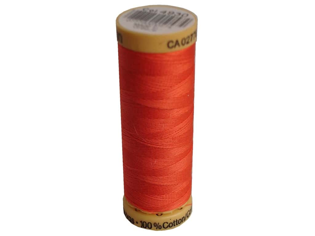 Gutermann 100% Natural Cotton Sewing Thread - #4930 Bright Coral 109 yd.