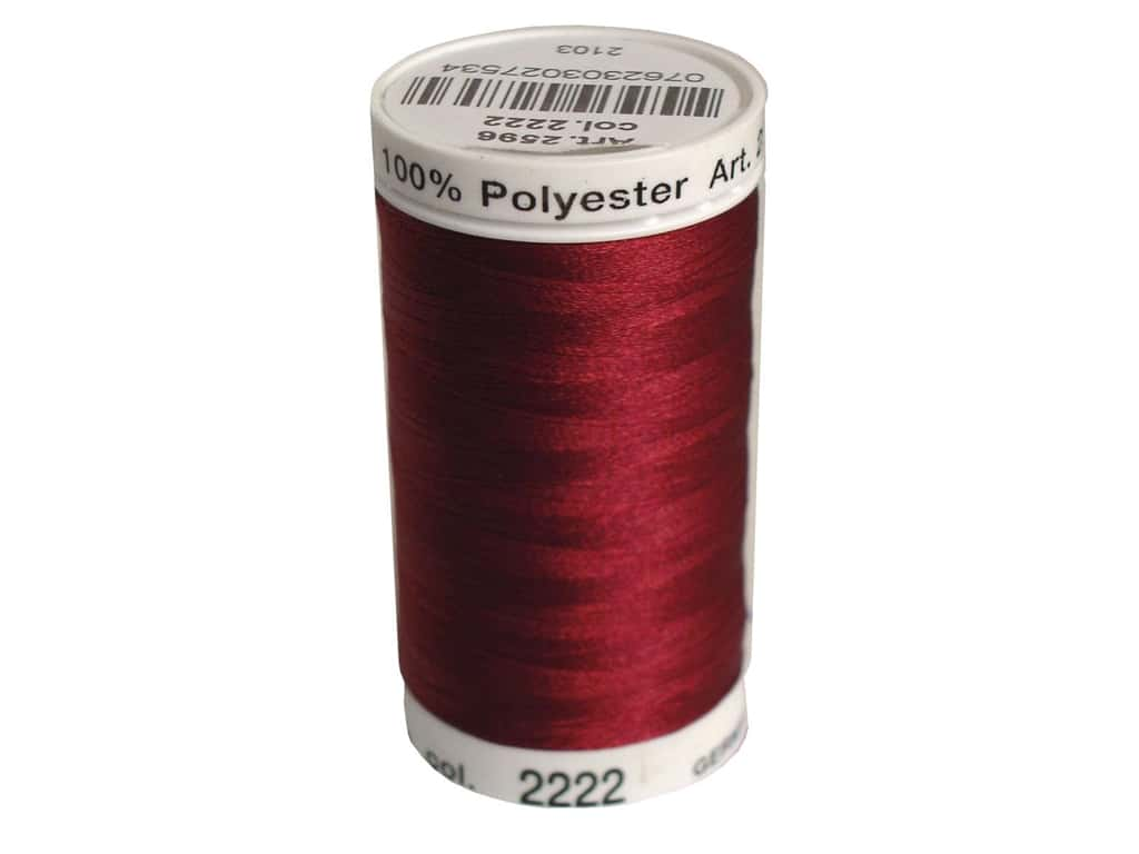 Mettler PolySheen Embroidery Thread 875 yd. #2222 Burgundy
