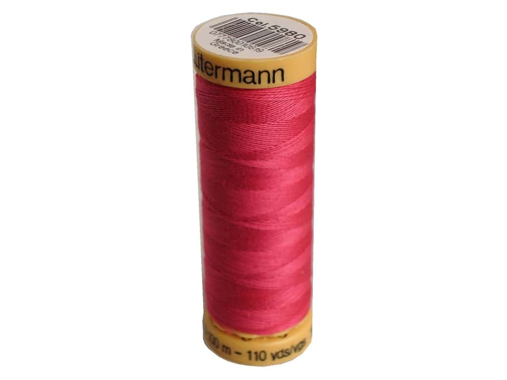 Gutermann 100% Natural Cotton Sewing Thread 109 yd. #5980 Bright Pink