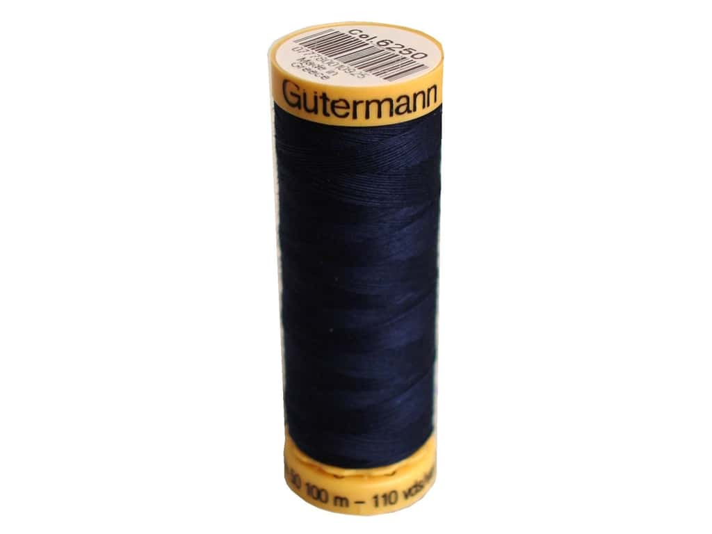 Gutermann 100% Natural Cotton Sewing Thread 109 yd. #6250 English Navy