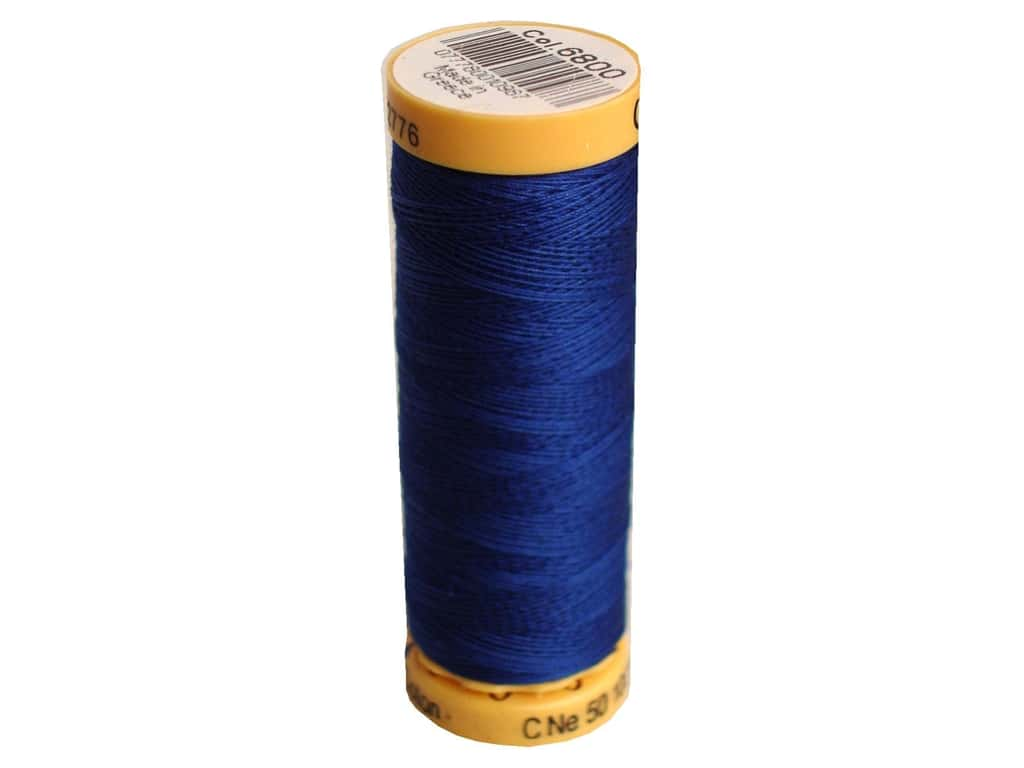 Gutermann 100% Natural Cotton Sewing Thread 109 yd. #6800 Blue