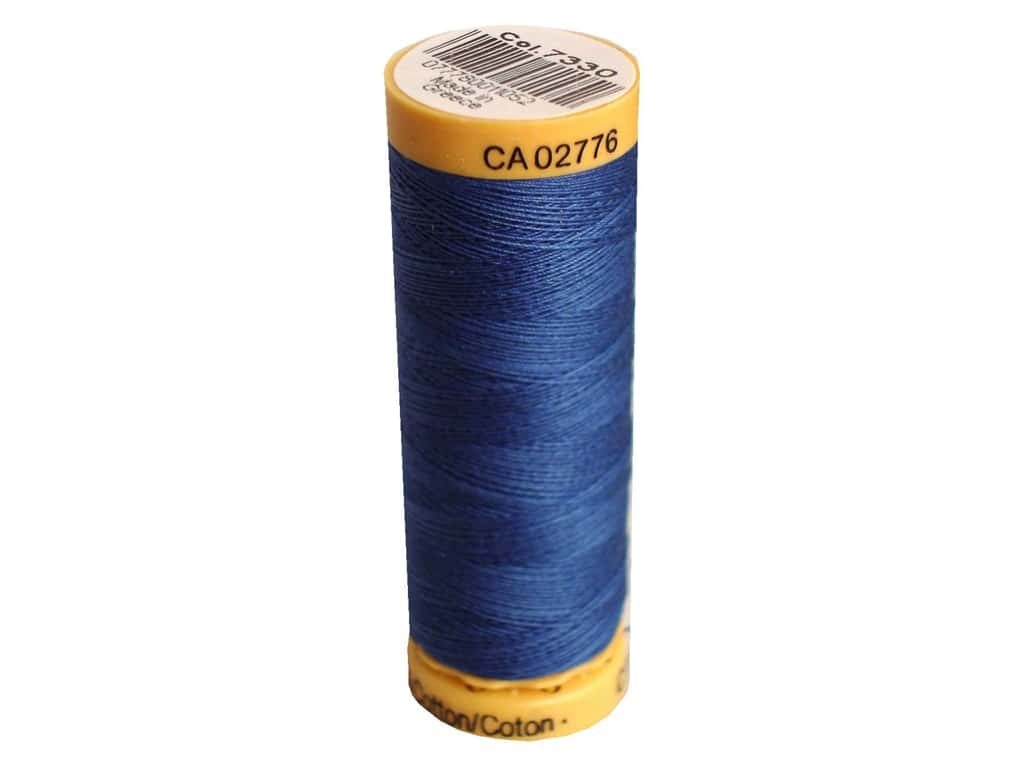 Gutermann 100% Natural Cotton Sewing Thread 109 yd. #7330 Dark Azure