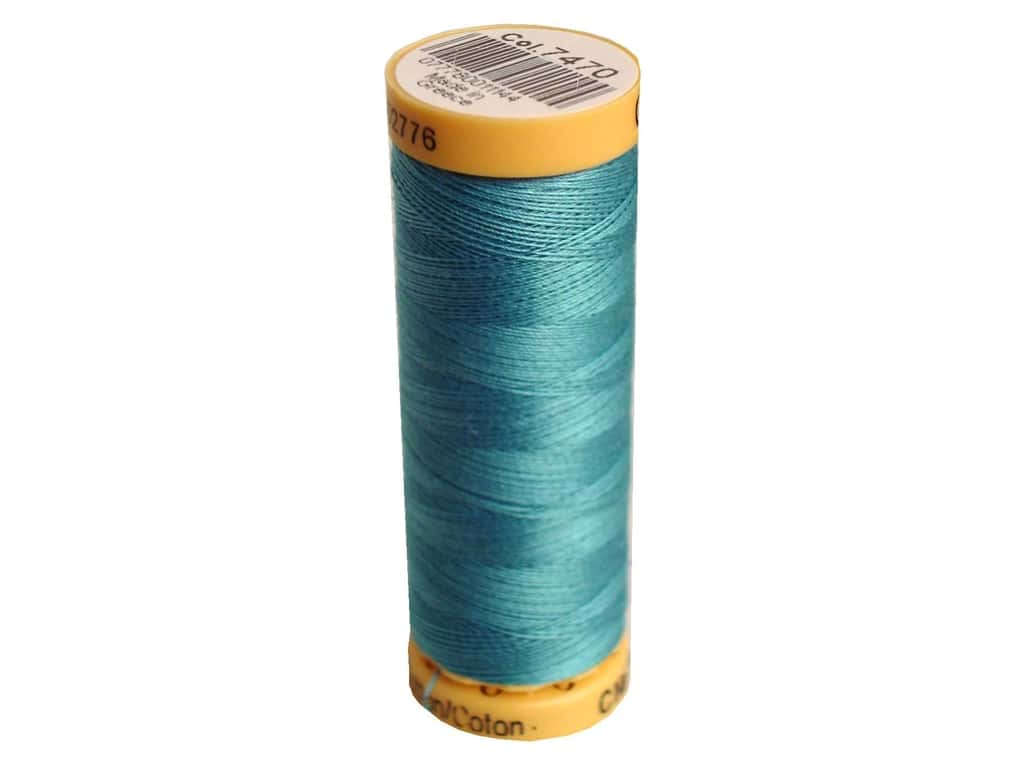 Gutermann 100% Natural Cotton Sewing Thread 109 yd. #7470 Silver Blue