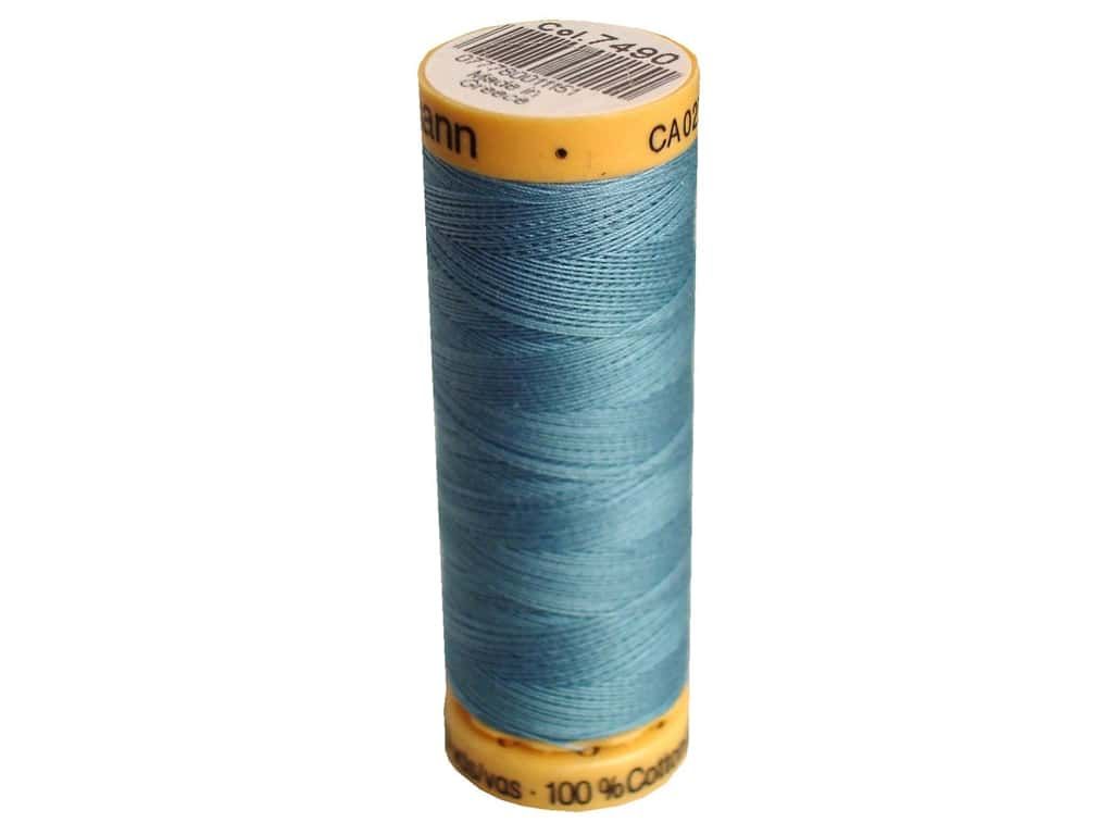 Gutermann 100% Natural Cotton Sewing Thread 109 yd. #7490 Gulfstream Blue