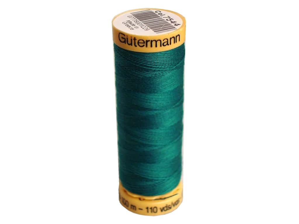 Gutermann 100% Natural Cotton Sewing Thread 109 yd. #7544 Nile Green