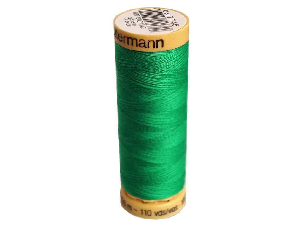 Gutermann 100% Natural Cotton Sewing Thread 109 yd. #7745 Electric Shamrock