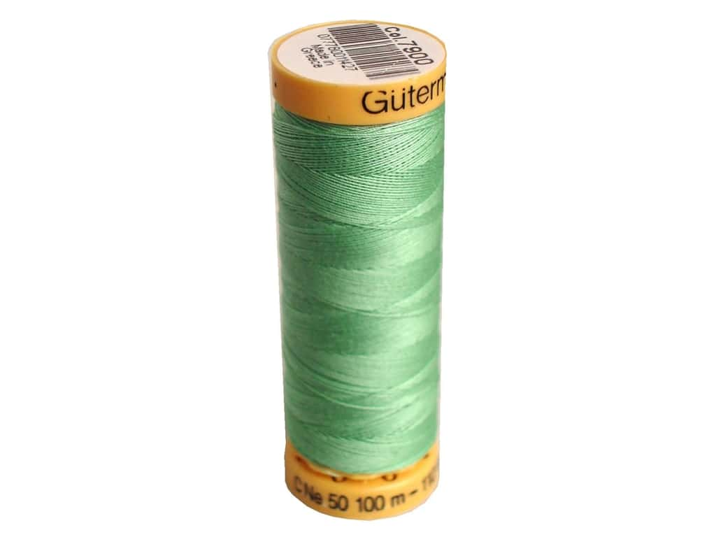 Gutermann 100% Natural Cotton Sewing Thread 109 yd. #7900 Medium Mint Green