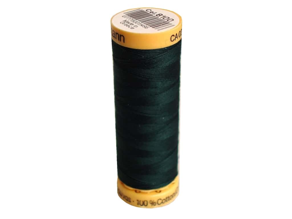 Gutermann 100% Natural Cotton Sewing Thread 109 yd. #8100 Black Forest