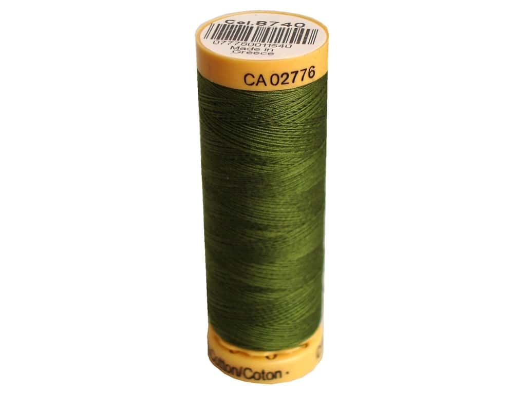 Gutermann 100% Natural Cotton Sewing Thread 109 yd. #8740 Apple Green