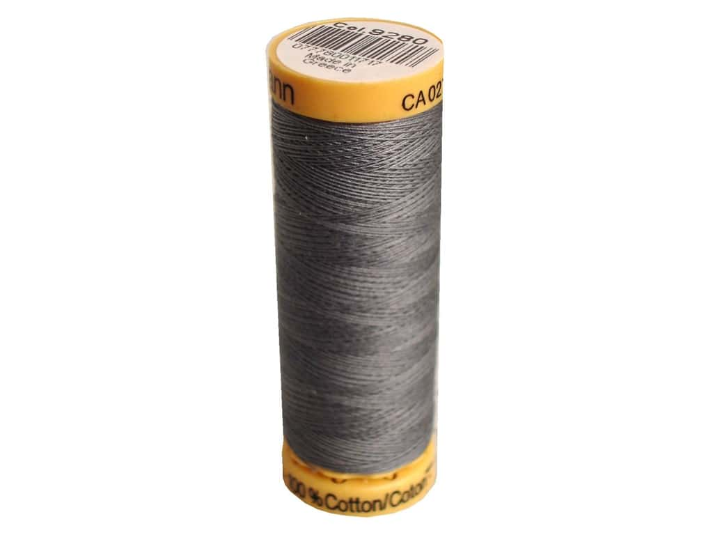 Gutermann 100% Natural Cotton Sewing Thread 109 yd. #9280 Greymore
