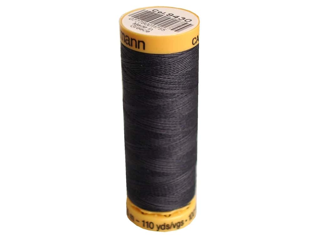 Gutermann 100% Natural Cotton Sewing Thread 109 yd. #9430 Gray