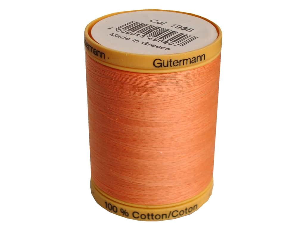 Gutermann 100% Natural Cotton Sewing Thread 875 yd. #1938 Salmon
