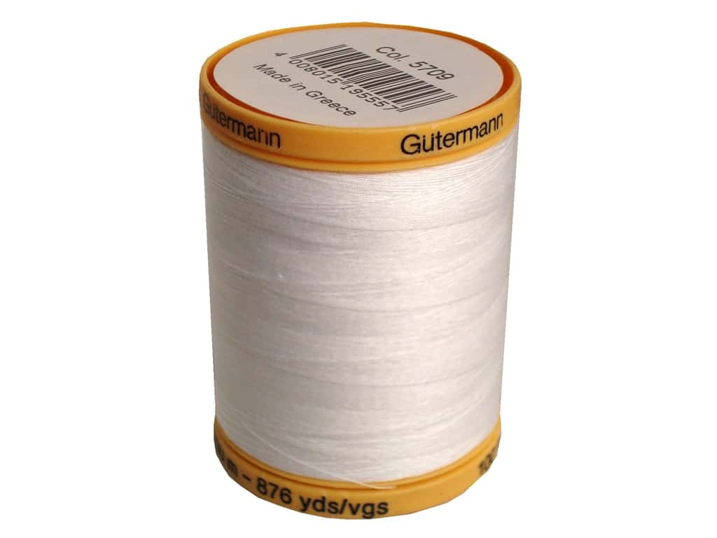 Gutermann 100% Natural Cotton Sewing Thread 875 yd. #5709 White
